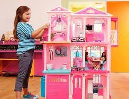 barbie dreamhouse pink barbie dream house 3 story pink doll house furniture and