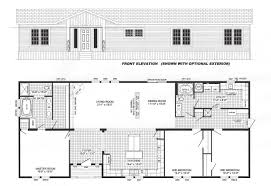 3 bedroom floor plan b 6017 hawks homes manufactured