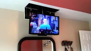 homemade tv lift in bedroom youtube