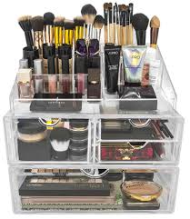 sorbus stackable makeup storage beauty product organizers