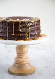 buttermilk chocolate cake with caramel and ganache cake