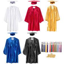 cheap cap and gown graduation cap gown tassel shiny low cost graduation