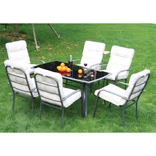 Patio Chairs Uk Outsunny 7pc Metal Dining Set Table Chairs Set Garden Patio