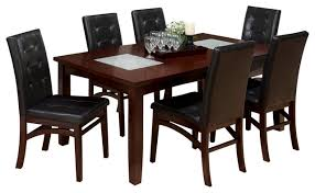 Jofran  Chadwick Piece Rectangle Extension Dining Room Set - Espresso dining room set