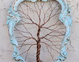 framed tree wall wire sculpture unique object tree