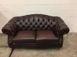 Pre Owned Chesterfield Sofa by Original Vintage Brown Leather Chesterfield Regent Sofa Aherns