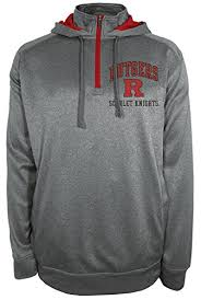 ncaa rutgers scarlet knights max protect hooded quarter zip hoodie