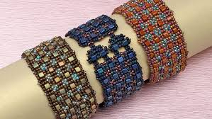 beading bracelet patterns images Cube and seed bead bracelet facet jewelry making jpg