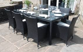 8 Seater Patio Table And Chairs Outdoor Outdoor Dining Sets With Umbrella White Patio Dining Set