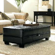 Square Leather Ottoman With Storage Charming Black Ottoman With Storage Ottoman Bench Square Leather