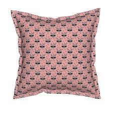 raccoon flower crown pink floral wallpaper by charlottewinter