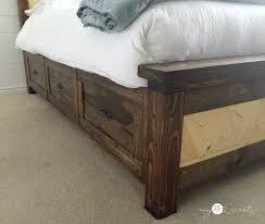Storage Beds Queen Size With Drawers Diy Storage Beds U2022 The Budget Decorator