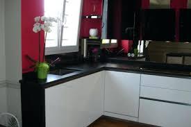 cuisine blanc noir cuisine blanche et plus awesome plan travail cuisine smile