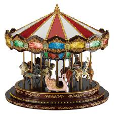 mr christmas mr christmas grand carousel box with 40 songs