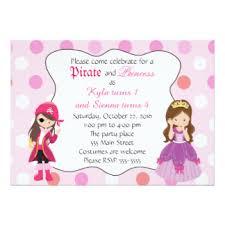 princess pirate party invitations u0026 announcements zazzle