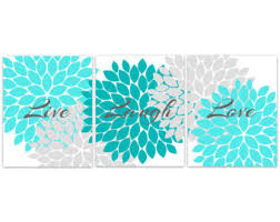 Turquoise Wall Decor Home Decor Canvas Wall Art Live Laugh Love Purple Wall Art