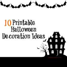 Halloween Paper Decorations Printable by Scary Halloween Decorations Printable