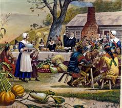 the wanoag version of the thanksgiving the pilgrims
