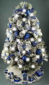 decorated mini tabletop tree snowflakes winter