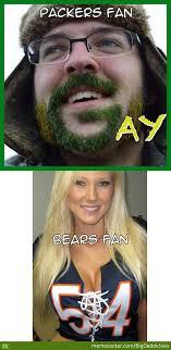 Bears Packers Meme - packers bears fans by bigdaddyjoey meme center