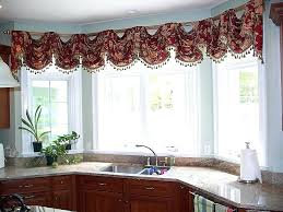 kitchen window valance ideas valance for bay window valance ideas kitchen bay window sink