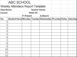 school report template free school weekly attendance report template free report templates