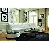 Amazoncom White Sofas  Couches  Living Room Furniture Home - Living room with white sofa