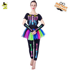 skeleton costume womens women s skeleton costume s day of dead skirt funky punky bone