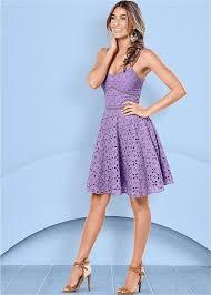 violet dress eyelet dress in light violet venus