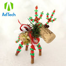 create cork reindeer ornament