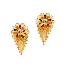 cool dangle earrings 31 amazing gold earrings for women 22k playzoa