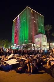 downtown riverside festival of lights riverside protests flood festival of lights press enterprise