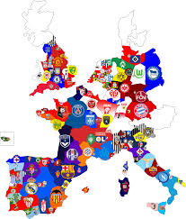 France On Europe Map by My Ideas European Club Football Map