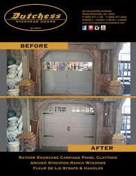 Dutchess Overhead Door Garage Door Before And After Dutchess Overhead Doors 10 X 7 With
