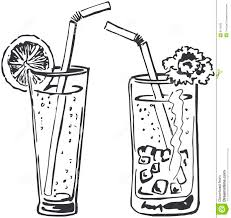 two cocktails doodle royalty free stock image image 8713636