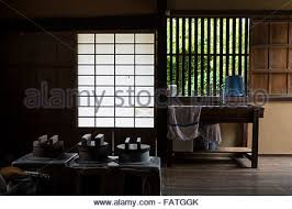 japanese traditional kitchen traditional japanese house kitchen stock photo 12937631 alamy