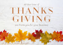 fall leaf line up business thanksgiving cards card website