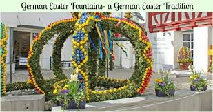 german easter decorations german easter fountains a german easter tradition