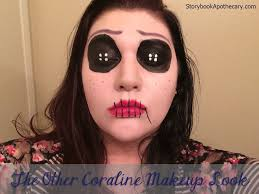 Black Eye Makeup For Halloween The Other Coraline Halloween Makeup Look Storybook Apothecary