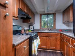 Factory Seconds Kitchen Cabinets Furniture Small Kitchen With Brown Huntwood Cabinets And