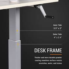 Electric Height Adjustable Desk Frame by Manual Height Adjustable Desks Crank Flexispot