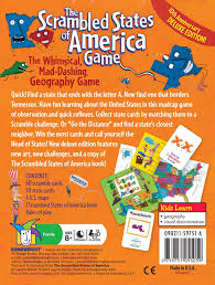 Map Of United States And Capitals by Amazon Com Scrambled States Toys U0026 Games