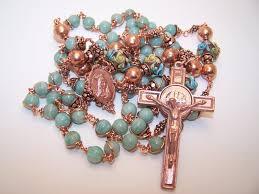 sacred heart rosary copper rosary sacred heart of