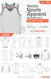 vector sports apparel mockup templates