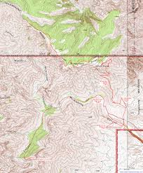 Guadalupe Mexico Map by Topographic Map Of The Mckittrick Canyon And Permian Reef Trails