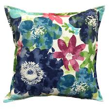 shop allen roth and floral square throw pillow outdoor