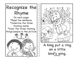 language arts review rhymes printables