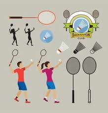 badminton equipment collection royalty free vector image