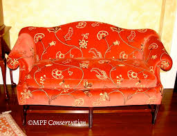 Chippendale Sofa Slipcover by Upholstery Restoration Sofas Loveseats Recamiers Upholstery