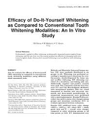 Dentist That Do Teeth Whitening Efficacy Of Do It Yourself Whitening As Compared To Conventional